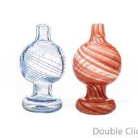 Cappuppi di carboidrati di vetro colorato da 25mm od per fumare piatta piatta al quarzo al quarzo banger unghie in silicone nettare collettori acqua tubi di acqua Bongs tubo DAB rigs