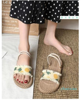 Sandals female fairy wind 2020 new summer flat sandals and slippers tide Rome two wear students wild slippers summer