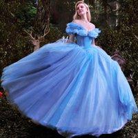 Vestido de pelota Vestidos de fiesta 2017 Vestido de cenicienta de lujo de lujo con manga azul de la manga quinceañera, vestido de fiesta formal de alta calidad, vestidos sin ánimo pgcoa
