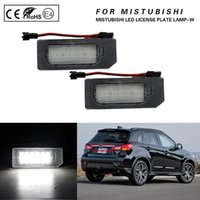 2Pcs Set LED License Plate Light Number Lamp Car Accessories For Mitsubishi ASX Outlander Sport 2011-2021 Emergency Lights