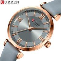 Relojes de pulsera Relojes Curren para mujeres Sencillos Damas de cuarzo con correa de cuero La elegancia con encanto de muñeca atemporal