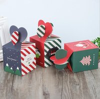 Nouveau Noël Coche Cadeau Cadeau Christma Eve Emballage de fruits Présent Coffret Creative Candy Case Exquisite Support d'impression Sacs EWB7095