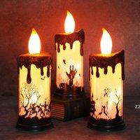 파티 용품 촛불 램프 LED 할로윈 촛대 테이블 탑 장식 라이트 유령 두개골 장식 홈 HWF9931