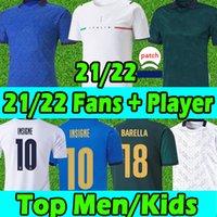2020 2021 italy Fans Versión de jugadores Jerseys de fútbol Zaniolo Immobile Chiesa Bonucci Insigne Hombres Mujeres Kits Kits Camisetas de fútbol Uniformes Pantalones