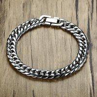 Link, Chain Miami Cuban Link Mens Bracelet In Silver Tone Stainless Steel Heavy Armband Pulseira Bileklik Male Jewelry 8-14 Mm 21-22cm