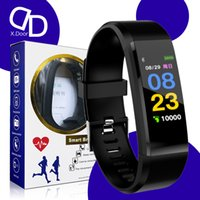 Xdoor 115plus smart wristbands android hr band wrist watches fitness tracker watch bracelet with heart rat blood pressure monitor Pedometer vs M4 M5 M6