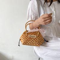 HBP Summer Ins gewebt Tasche Handtasche 2021 Frauen Tote Trendy Mode Metalldraht Urlaub Korb Picknick Mini Kleine Taschen