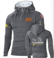 Men's Hoodies & Sweatshirts Fleece Men Motorsport R 1250 Gs Zipper Sportswear Motorcycle Print Winter Hip Hop Mens Tracksuits