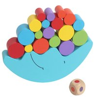 Toy Moon Balance Beam Spiel Holz Bausteine Kinder Pädagogische Bunte Stack Tower Baby Montessori Spielzeug Neue 1019