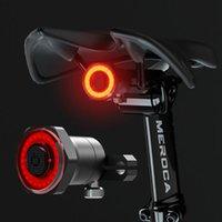 الدراجة الأمامية الرسمية ركوب دراجة ضوء دراجة الصمام المتحدث مع البداية التلقائي الفرامل IPX6 ماء USB القابلة لإعادة الشحن ومضات