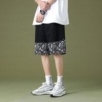 الرجال السراويل الكاجو زهرة أزياء العلامة التجارية الصيف عارضة السراويل فضفاضة 5 نقاط الجليد الاتجاه شاطئ السراويل الأزياء