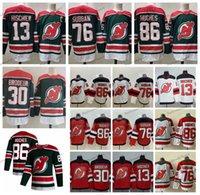2019 Джек Hughes New Jersey Devils Hockey Jerseys 86 Джек Хьюз 76 PK Subban 35 CORY Schneider 13 Nico Hischier 30 Martin Brodeur Рубашки