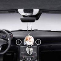 Preferimento Sublimazione Blanks Car Pendente Automobile Ala Ala Retrovisore Specchio Decorazione Appeso Fascino Ornamenti Automobili Automobili Interni Accessori