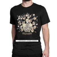 CCCCSporthigh Kalite Marka Yeni Erkekler Tops T Gömlek Gilgamesh Vintage Saf Pamuk Camisas Kader Kalmak Gece FGO Anime 3D Tişörtleri Erkek