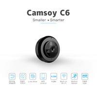 C6 Mini caméra WiFi P2P Caméra IP HD 720P Night Vision Mini Enregistreur vidéo Portable Petite caméra Boby portefeuille portable Détection de mouvement