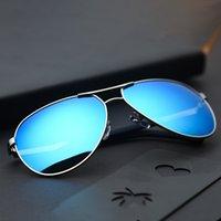 Diseño de diseño de marca de lujo Gafas de sol Sunglass Hombres Mujeres Piloto Modelo UV400 Use Use Glasses TR90 Frame Retail al por mayor