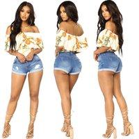 إمرأة صيف جديد جينز قصير سليم هول سستة الجيب البسيطة السراويل الأزرق الدينيم مثير الجينز عالية الخصر البسيطة السراويل السراويل