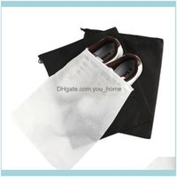 Bags Housekeeping Organization Home & Gardentravel Dstring Storage Non-Woven Thicken Tote Household Dust-Proof Shoe Bag Pouch Black White Sh