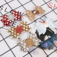 Hair Accessories XIMA 12pcs lot Christmas Bows Clips 3inch Girls Bow Hairpins For Children Kids Party