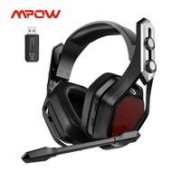 MPOW IROIT PRO سماعات ألعاب لاسلكية USB / 3.5MM سماعة رأس مع إلغاء الضوضاء MIC 3D المحيطي 20H تشغيل PS5 PS4 PC Gamer