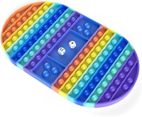 Большой размер Fidge Toy Toy Rainbow Шахматная Доска Push Bubble Popper Fidget Силиконовая сенсорная игрушка для родительского ребенка