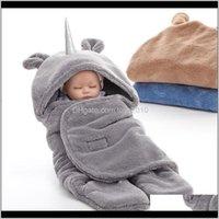 Mantas swaddling guardería ropa de cama bebé, niños maternidad entrega entrega 2021 Winter Warmer Baby Manta Doble Capa Flannel Muslin Swaddle T