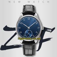 Eternity Watches ZFF Ultimi prodotti 40mm 358305 CAL.82200 ZF82200 Automatic Tre dimensional Numeri arabi arabi blu quadrante orologio in pelle cinturino in pelle