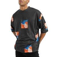 Camiseta Popular de algodão orgânico Oversized ACDC em preto com turtleneck homens do vintage do verão