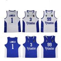 Hombres Lituania Prienu Vytautas Camisa de baloncesto Lamelo 1 Bola Jersey 3 Liangelo Uniform 99 Lavar Todo Costado Buena Equipo Azul Blanco