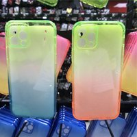 Gradient Colors Anti Shock Airbag Clear Cases For iPhone 12pro max 11 Pro XS XR 8 7Plus 6 6S