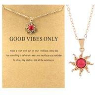 Sun deus colar vermelho sol flor colar feminina colar