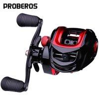 18 + 1 Rodamientos de bolas Pro Beros 1 unid Agua Pesca Carrete de pesca Azul y color rojo Disponible 10kg Derecha derecha Rueda de mano izquierda Baitcasting Reels