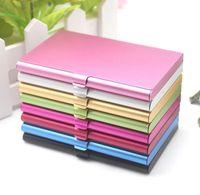 الجملة 100 قطع الائتمان بطاقة الهوية حالة الملفات حامل الألومنيوم بطاقات الأعمال مربع الألومنيوم متعدد الألوان SN2547