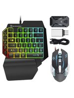 Keyboard Mouse Combos And Converter Combo Set With Rainbow Backlight For PS4 PS5 switch xbox