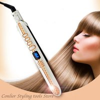 2021Professional Electronic LCD Hair Straightener Irons Adjustable Temperature Portable Ceramic Flat Straightening Styling Toolsfactory dire