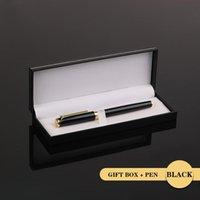 Cadeau de stylo en métal à billets de stylo à bille 0.5 mm Noir Luxe Personnalisée Logo Publicité Ballon de Papeterie School Student
