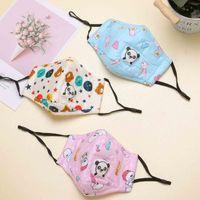 Panda Детские хлопчатобумажные лица маска для лица детей против пыли моющийся тигр сова кролик медведь на открытом воздухе маски маски мальчиков и девочек милая мода