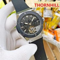 sapphire crystal bracelet waterproof top quality ice out watches 316L stainless steel case genuine leather mechanical automatic date premium sports men watch