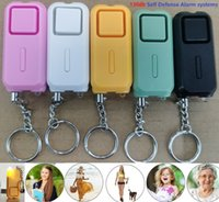 Personal Self Defense Alarm 130db Security Alarm Girl Women Old man Unisex Security Protect Alert Safety Scream with LED Light Keychain