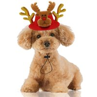 Одежда для собак 2021 Смешные Xmas Hat Pet Cat Рождественские Головные уборы Лось Северные Одренители Оголовье Регулируемая шапка снеговики 20