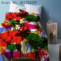Bedding Sets 3D Colorful Sika Deer Printed Quilt Cover Comforter Set 3PCS For Children Adult Microfiber Duvet Home Textile