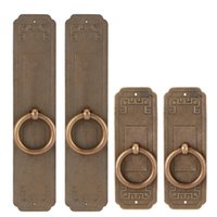 Handles & Pulls Antique Copper 2 Sets Chinese Style Handle Single Hole Door Pull Knobs For Kitchen Cabinet Furniture Hardware Piezas De Mueb