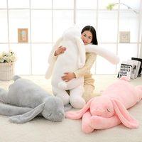 جميل العملاق الحيوان 90 سنتيمتر 120 سنتيمتر لينة الكرتون كبير الأذن الأرنب أفخم لعبة أرنب محشوة وسادة فتاة هدية