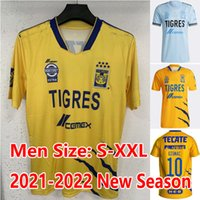 2021 2022 Gignac Tigres Uanl Jersey 7 étoiles à la maison 3ème 20 21 Mexique Club jaune Vargas Aquino Pizarro Nicolas Jerseys Chemises de football