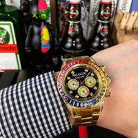Mens Watch Automatic Mechanical 43mm Rainbow Diamond Ring Mouth Montre de Luxe Stainless Steel Strap Wristwatches
