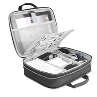 Storage Bags BUBM Capacity Expansion Electronics Travel Organizer Bag For USB Cable Charging Cord, IPad Mini  9.7'' Pro
