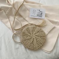 Live broadcast version of straw women's bag 2021 New Single Shoulder Messenger fashion popular hand g hook flower small