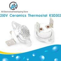 Smart Home Control KSD302 16A 250V 40-130 Stopni ceramiczne KSD301 Zwykle zamknięte Przełącznik temperatury Termostat 45 55 60 65 70 75 80 85