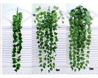 Decorative Flowers & Wreaths 1Pcs Artificial Fake Hanging Vine Plant Leaves Garland Home Garden Wall Decoration Green May 5