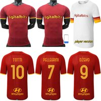 Versão do Jogador Romas Jersey Home Away Zaniolo Dzeko Pastore Totti Kluivert Kolarov 21 22 Futebol Camisa Uniformes Pellegrini Florenzi Kalínica Alemania